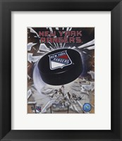 Framed New York Rangers 2005 - Logo / Puck