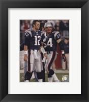 Framed Tom Brady / Tedy Bruschi - Patriots '05 Return