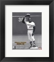 Framed Roberto Clemente - 9/30/72 3000 Hit