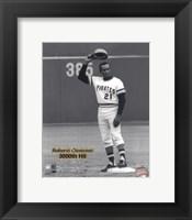 Framed Roberto Clemente - 9/30/72 3000 Hit