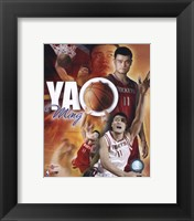 Framed Yao Ming - Portrait Plus '05