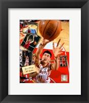 Framed Yao Ming - 2005 Scrapbook