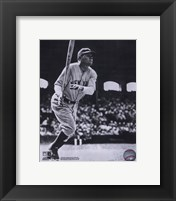 Framed Babe Ruth - Batting Action At The Stadium