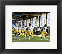 Framed Super Bowl  XL - '05 Steelers Introduction #1