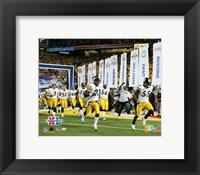 Framed Super Bowl  XL - '05 Steelers Introduction #1