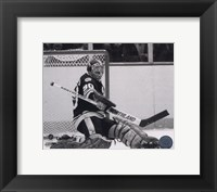 Framed Gerry Cheevers - Action