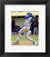 Framed Mark Teixeira - 2006 Batting Action