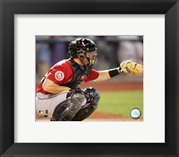 Framed Brad Ausmus - 2006 Catching Action