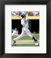 Framed Nick Swisher - 2006 Batting Action