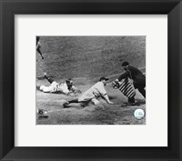 Framed Babe Ruth - Sliding Into Home