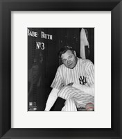 Framed Babe Ruth - Farewell Game / Locker Room
