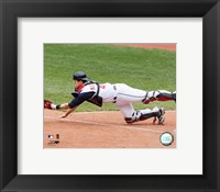 Framed Victor Martinez - 2006 Catching  Action