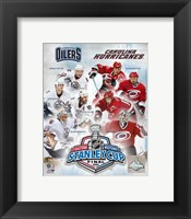 Framed '06 - Stanley Cup Matchup Composite Oiilers Vs. Hurricanes
