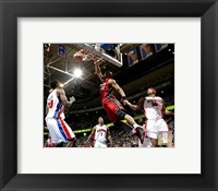 Framed Alonzo Mourning - 2006 Playoff  Action