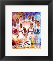 Framed NBA - 2006 Finals Match-Up Heat Vs. Mavericks
