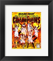 Framed 2006 - Heat NBA Champions Composite