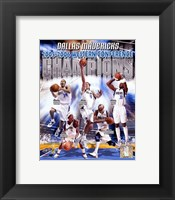 Framed 2006 -  Mavericks Western Conference Champions Composite