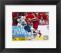 Framed Mike Commodore  2006 Stanley Cup / Game 1 Hit