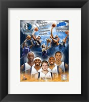 Framed '05 / '06 Mavericks Western Conference Champions Composite
