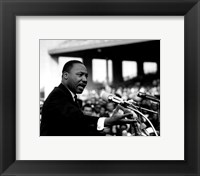 Framed Rev. Dr. Martin Luther King Jr. Speaking (#8)