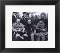 Framed Winston Churchill, Franklin D. Roosevelt and Joseph Stalin at Yalta in 1945. (#6)
