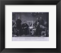 Framed President Lincoln First Reading of the Emancipation Proclamation (#4)
