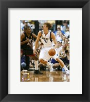 Framed Dirk Nowitzki - 2006 Finals / Game 2 Dribble (#10)