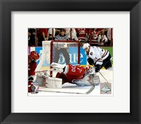 Framed Cam Ward - 2006 Stanley Cup / Game 7 Game Winning Save (#33)