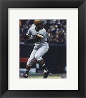 Framed Roberto Clemente - 1971 Batting Action