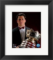 Framed Rod Brind'Amour with the 2006 Selke Trophy