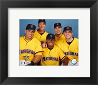 Framed Carlos Beltran, Tom Glavine, Jose Reyes, Paul LoDuca and David Wright 2006 All-Star Game