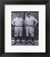 Framed Lou Gehrig / Babe Ruth - Full Body / Pinstripes