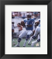 Framed Warren Moon - Passing Action