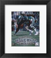 Framed Reggie White - Minister of Defense / '06 H.O.F.