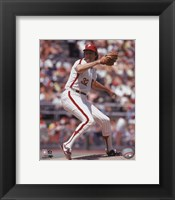 Framed Steve Carlton - 1972 Action
