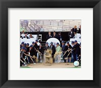 Framed New Yankee Stadium - 2006 Ground Breaking Ceremony