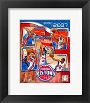 Framed '06 / '07 Pistons Team Composite