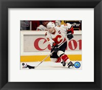 Framed Jarome Iginla - '06 / '07 Away Action