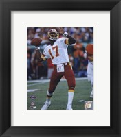 Framed Doug Williams Super Bowl XXII 1988 Passing Action