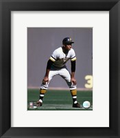 Framed Roberto Clemente - 1970 Action