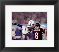Framed Robert Mathis SuperBowl XLI Action (#7)