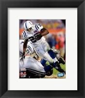 Framed Joseph Addai Super Bowl XLI Action (#14)