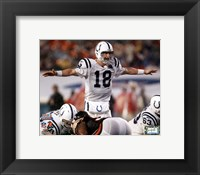 Framed Peyton Manning Super Bowl XLI Calling Play (#13)
