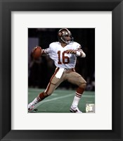 Framed Joe Montana - Action