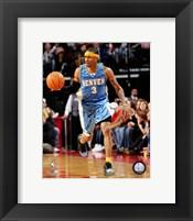 Framed Allen Iverson - '06 / '07 blue jersey