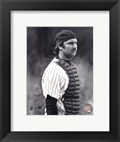 Framed Thurman Munson - 1978 Catching Action