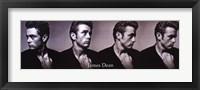 Framed James Dean Dream As You Live - Slim Print