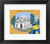 Framed Simpsons - Springfield Town Hall (postercard)