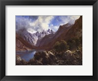 Framed Alpine Lake
