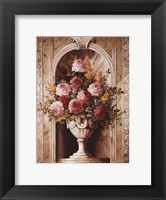 Framed Assorted Roses In Urn